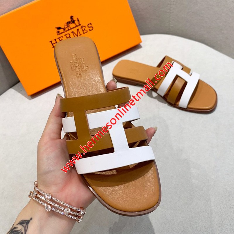 Hermes Amore Sandal Calfskin In Brown