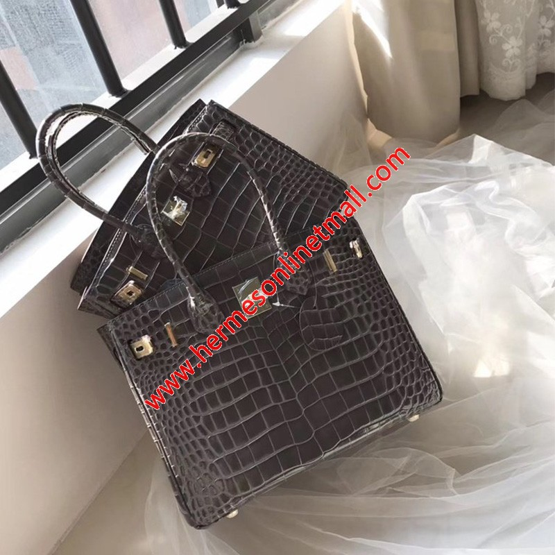 Hermes Birkin Bag Alligator Leather Gold Hardware In Pink