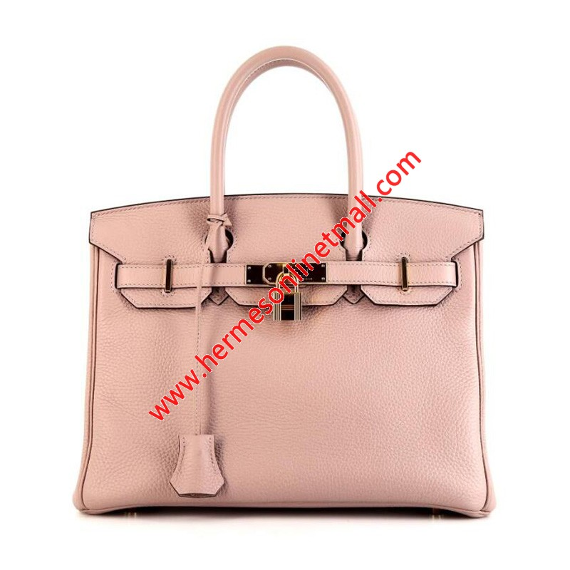 Hermes Birkin Bag Togo Leather Gold Hardware In Cherry
