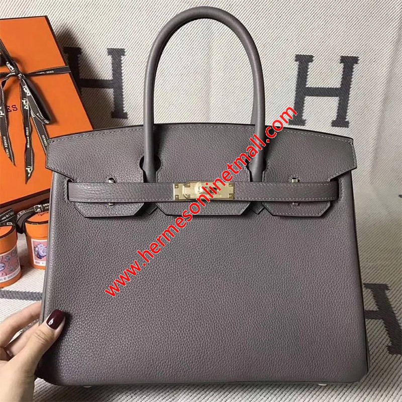 Hermes Birkin Bag Togo Leather Gold Hardware In Marble