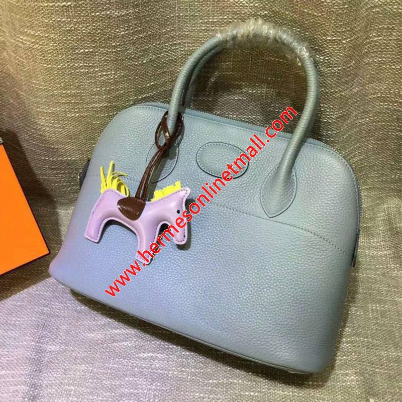 Hermes Bolide Bag Togo Leather Palladium Hardware In Sky Blue