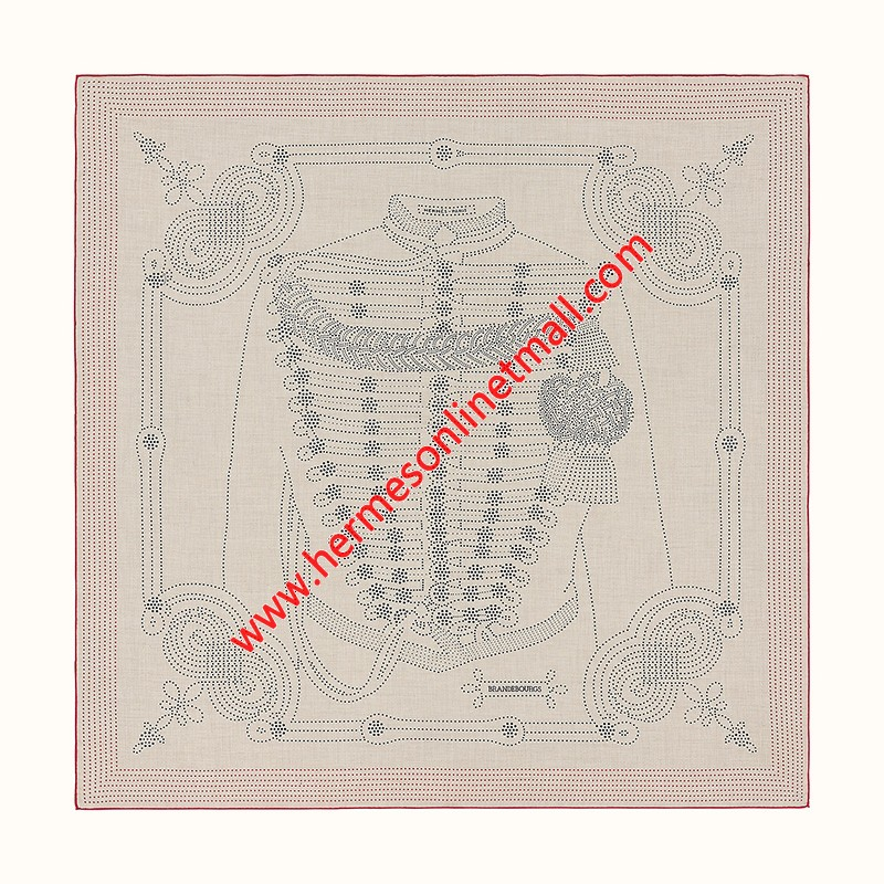 Hermes Brandebourgs Points Shawl 140 In Beige