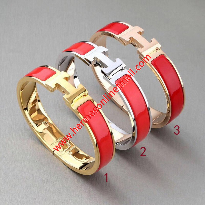Hermes Clic H Bracelet In Red