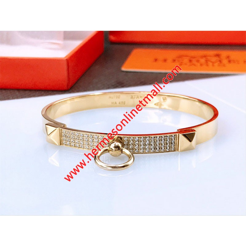 Hermes Collier De Chien Bracelet In Gold