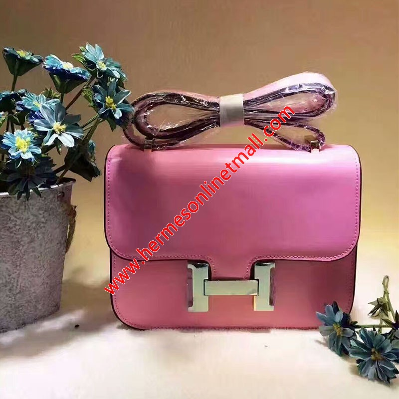 Hermes Constance Bag Box Leather Gold Hardware In Pink