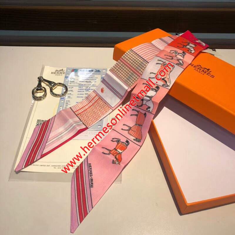 Hermes Courvertures Nouvelles Vichy Twilly In Pink