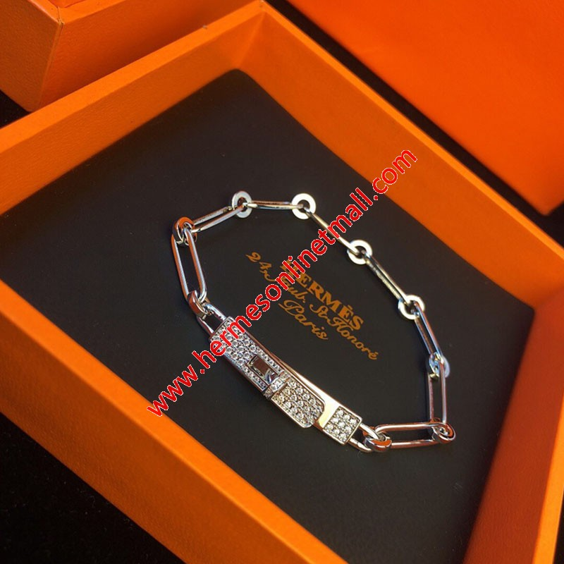 Hermes Ever Chaine D'Ancre Bracelet In Silver