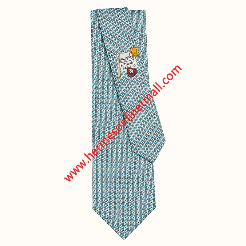 Hermes Fast Ball Tie In Blue
