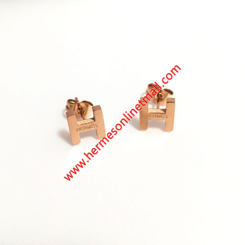 Hermes H Earrings
