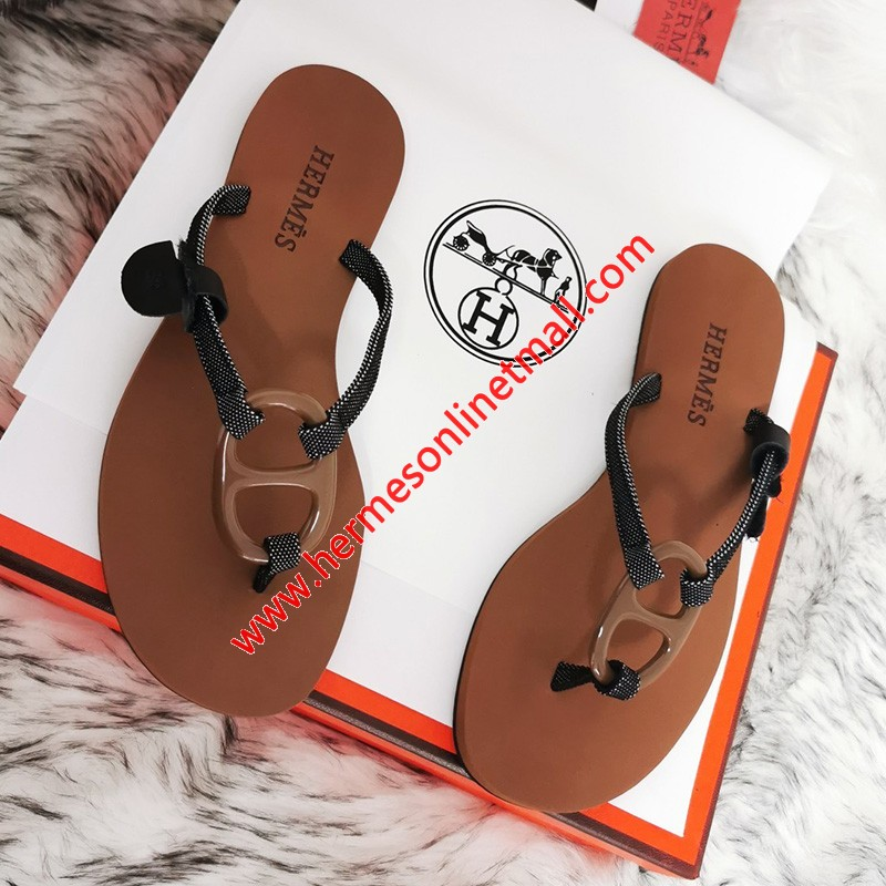 Hermes Kala Nera Sandal In Brown