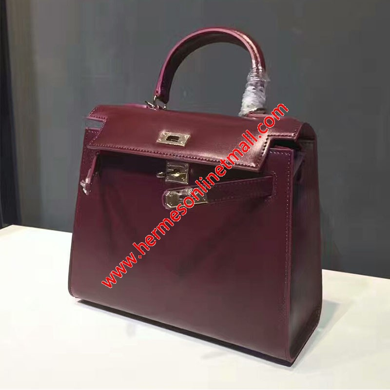 Hermes Kelly Bag Box Leather Gold Hardware In Retro Red