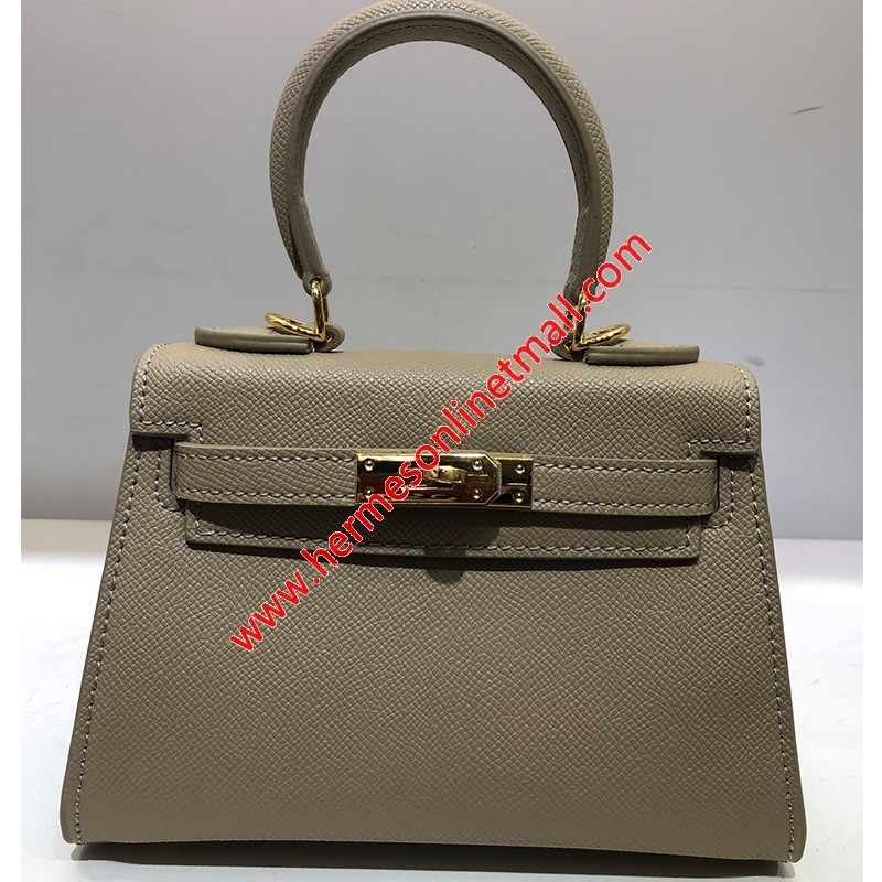 Hermes Kelly Bag Epsom Leather Gold Hardware In Apricot