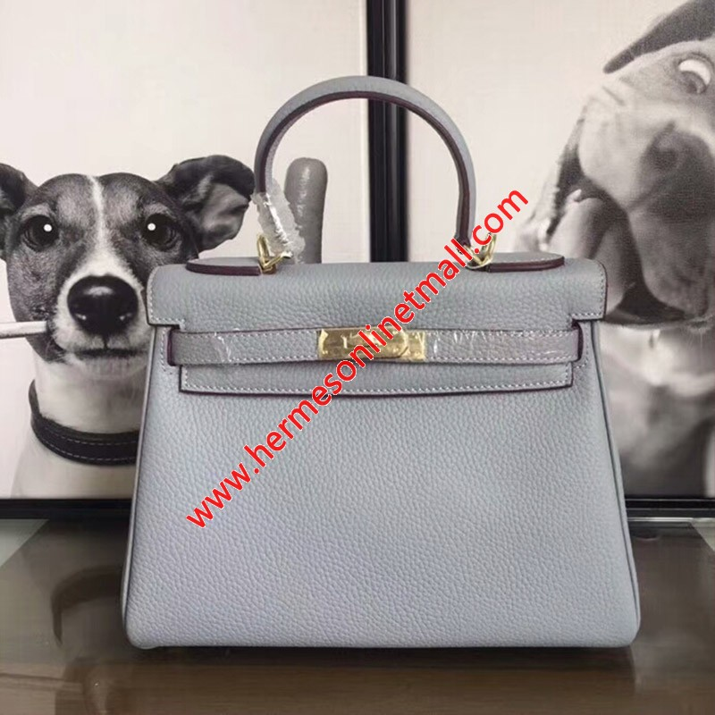 Hermes Kelly Bag Togo Leather Gold Hardware In Sky Blue