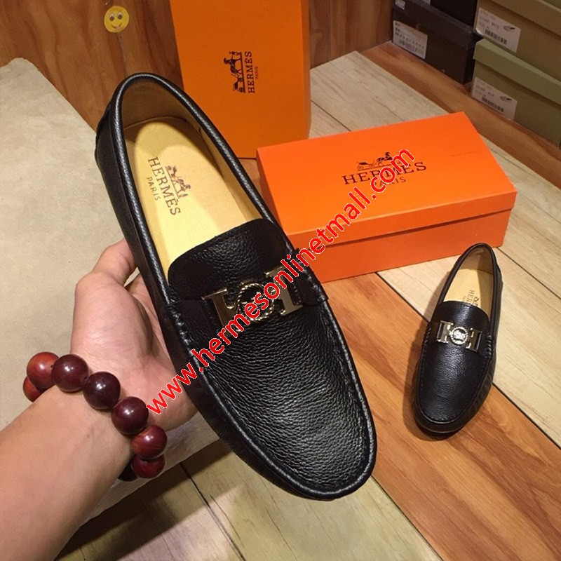 Hermes Loafer Togo Leather Black