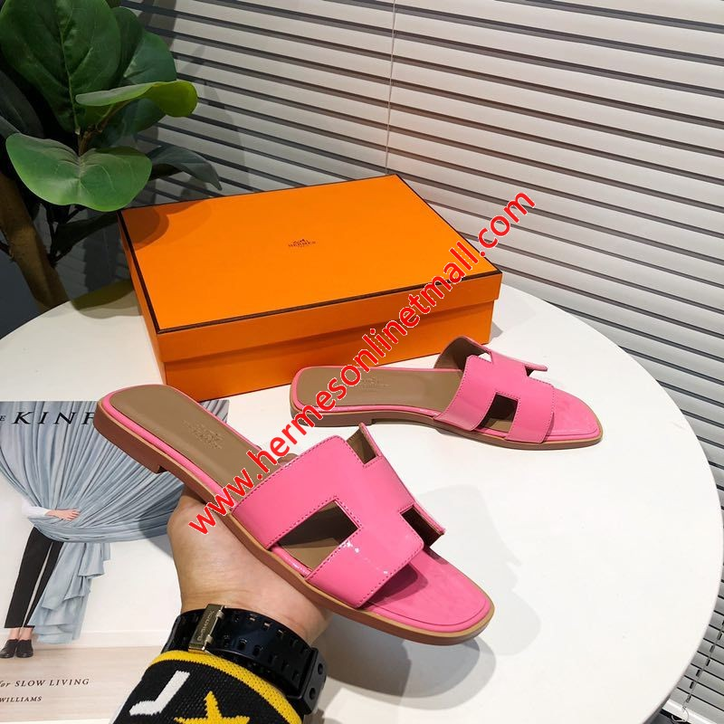 Hermes Oran Sandal Nappa Leather In Pink
