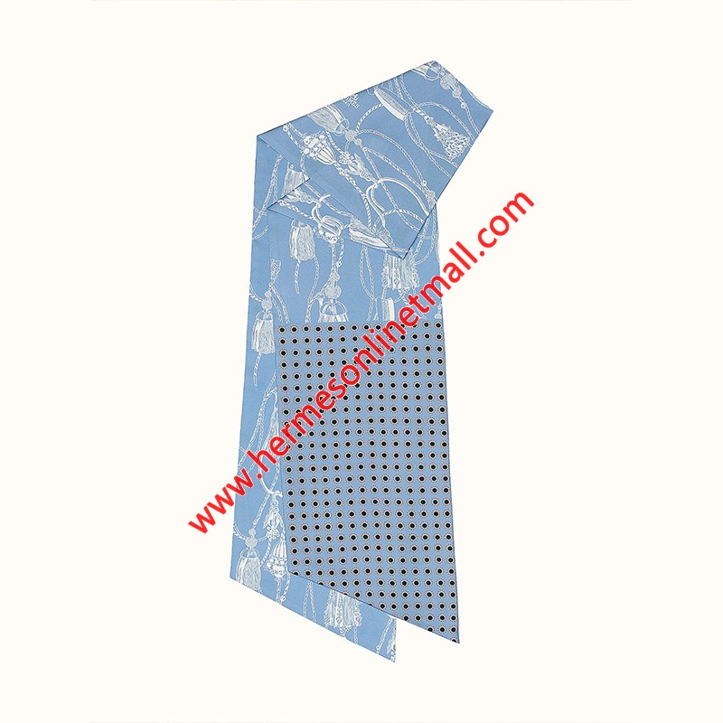 Hermes Passementerie Maxi-twilly Cut In Light Blue