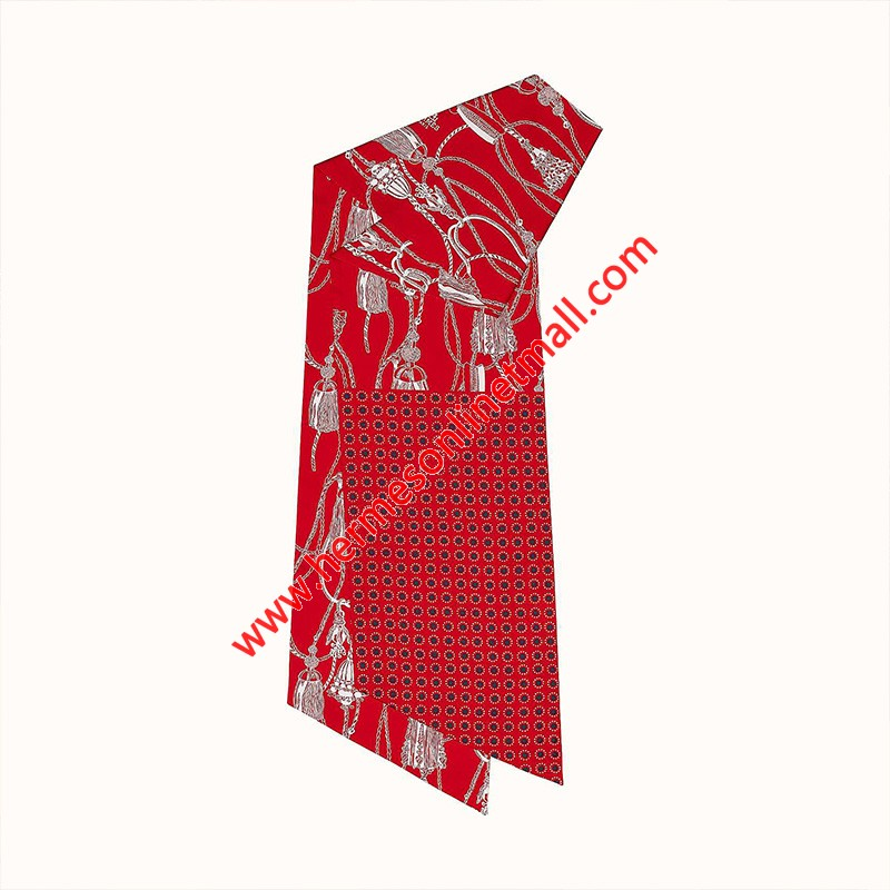 Hermes Passementerie Maxi-twilly Cut In Red