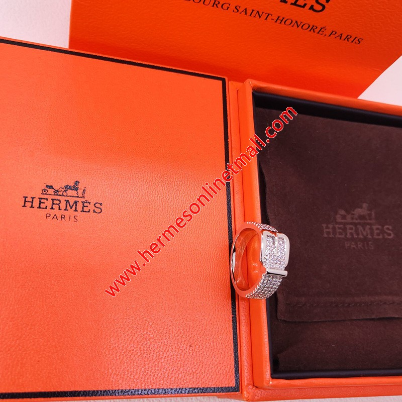 Hermes Ring With Crystal Silver