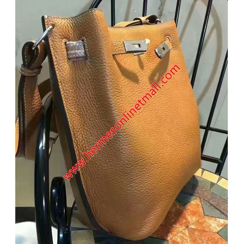 Hermes So Kelly Bag Togo Leather Palladium Hardware In Brown