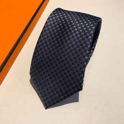 Hermes Alter Ego Tie In Navy Blue