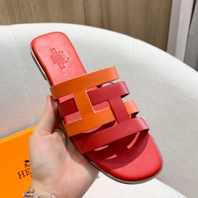 Hermes Amore Sandal Calfskin In Red