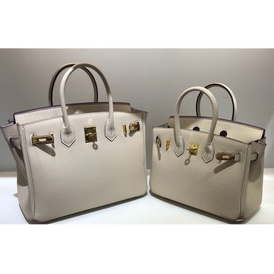 Hermes Birkin Bag Epsom Leather Gold Hardware In Beige