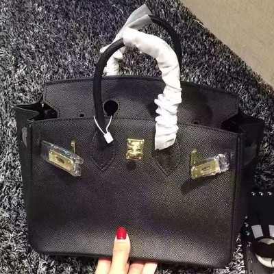 Hermes Birkin Bag Epsom Leather Gold Hardware In Black