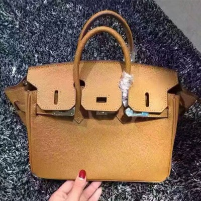 Hermes Birkin Bag Epsom Leather Gold Hardware In Brown