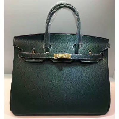 Hermes Birkin Bag Epsom Leather Gold Hardware In Green