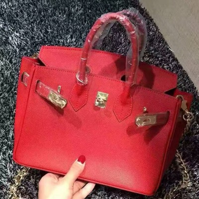Hermes Birkin Bag Epsom Leather Gold Hardware In Red
