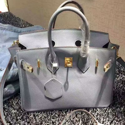 Hermes Birkin Bag Epsom Leather Gold Hardware In Sky Blue
