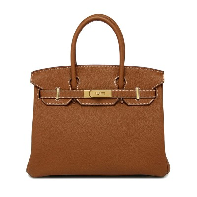 Hermes Birkin Bag Togo Leather Gold Hardware In Brown