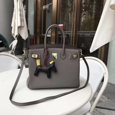 Hermes Birkin Bag Togo Leather Gold Hardware In Dark Grey