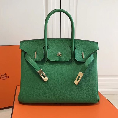 Hermes Birkin Bag Togo Leather Gold Hardware In Green