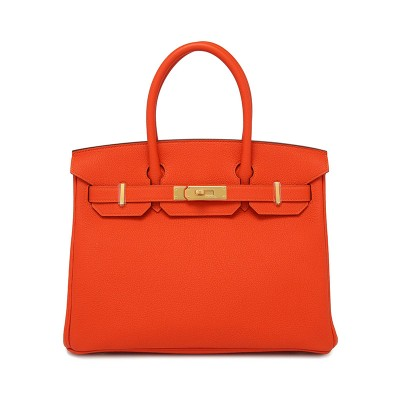 Hermes Birkin Bag Togo Leather Gold Hardware In Orange