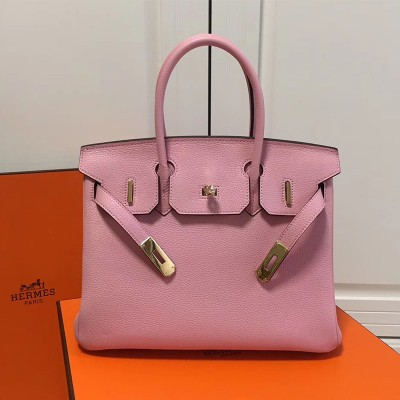 Hermes Birkin Bag Togo Leather Gold Hardware In Pink