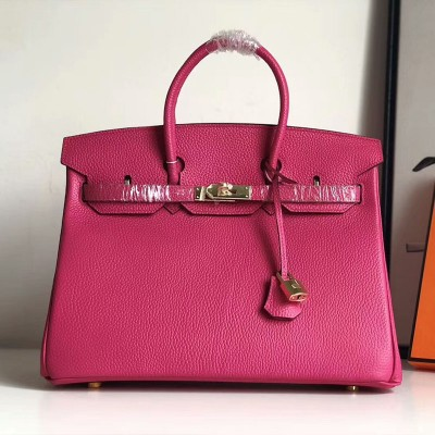 Hermes Birkin Bag Togo Leather Gold Hardware In Rose