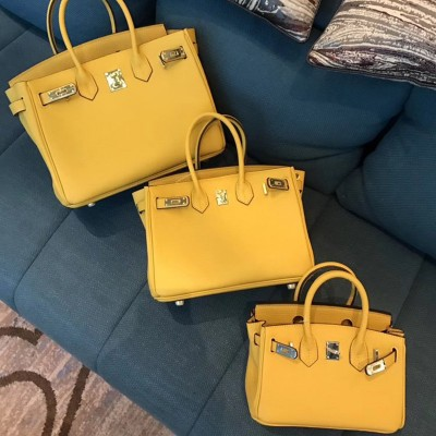 Hermes Birkin Bag Togo Leather Gold Hardware In Yellow