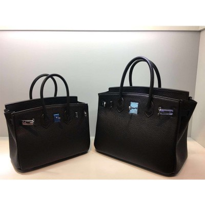 Hermes Birkin Bag Togo Leather Palladium Hardware In Black