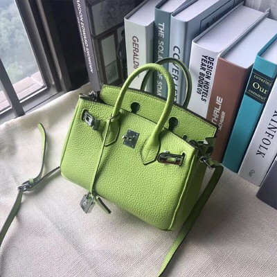 Hermes Birkin Bag Togo Leather Palladium Hardware In Green