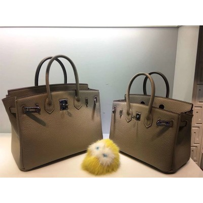 Hermes Birkin Bag Togo Leather Palladium Hardware In Khaki