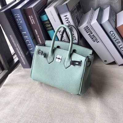 Hermes Birkin Bag Togo Leather Palladium Hardware In Mint Green