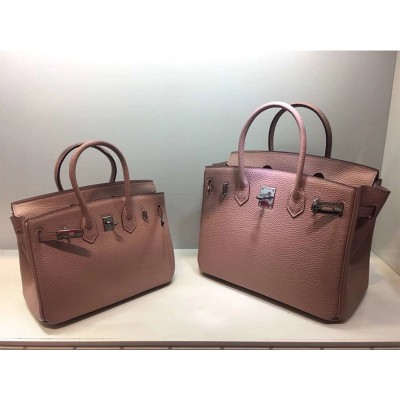 Hermes Birkin Bag Togo Leather Palladium Hardware In Pink