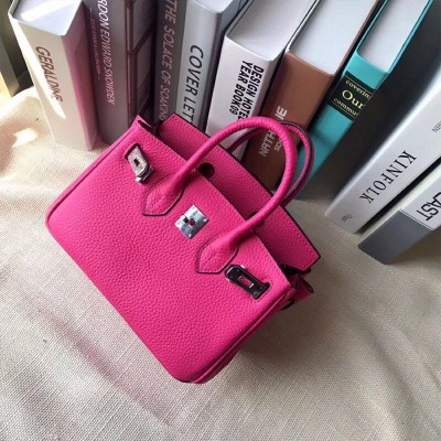 Hermes Birkin Bag Togo Leather Palladium Hardware In Rose