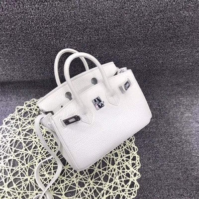 Hermes Birkin Bag Togo Leather Palladium Hardware In White