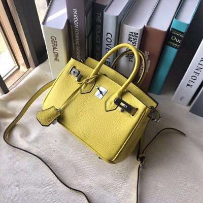 Hermes Birkin Bag Togo Leather Palladium Hardware In Yellow