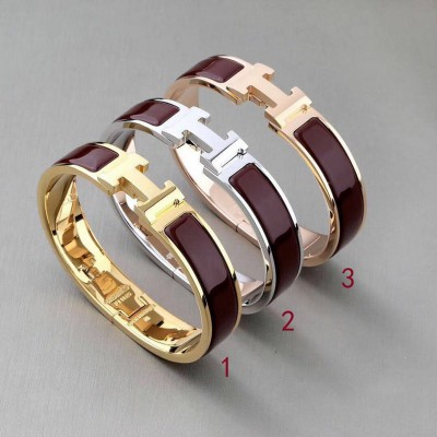 Hermes Clic H Bracelet In Coffee