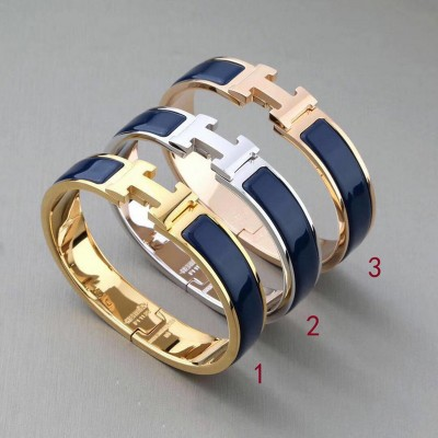 Hermes Clic H Bracelet In Navy Blue