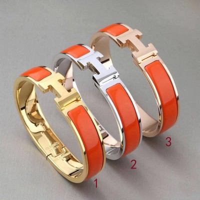 Hermes Clic H Bracelet In Orange