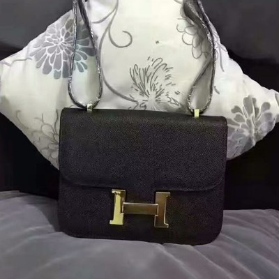 Hermes Constance Bag Epsom Leather Gold Hardware In Black